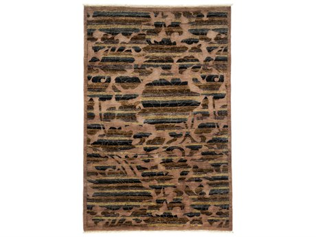 Solo Rugs Arts & Crafts Brown 4'2'' x 6'2'' Rectangular Area Rug SOLM1783299