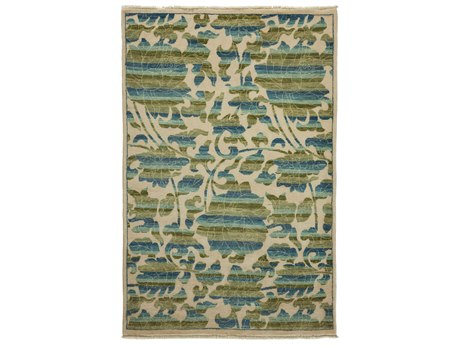 Solo Rugs Arts & Crafts Ivory 4'2'' x 6'3'' Rectangular Area Rug SOLM1783302
