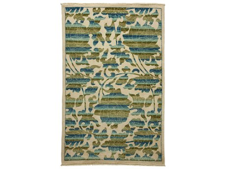 Solo Rugs Arts & Crafts Ivory 4'2'' x 6'5'' Rectangular Area Rug SOLM1783305