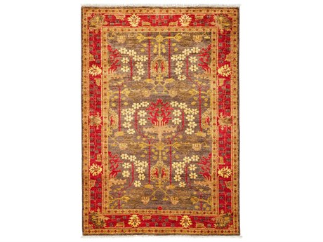 Solo Rugs Arts & Crafts Brown 4'3'' x 6' Rectangular Area Rug SOLM1811326