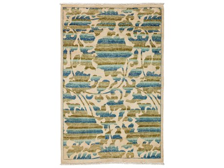 Solo Rugs Arts & Crafts Green 4'1'' x 6'3'' Rectangular Area Rug SOLM1811330
