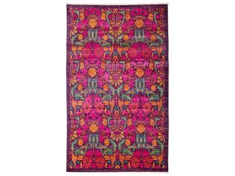 Solo Rugs Arts & Crafts Pink 4'10'' x 8'1'' Rectangular Area Rug SOLM1825190
