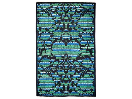 Solo Rugs Arts & Crafts Black 5'2'' x 8'6'' Rectangular Area Rug SOLM1760247