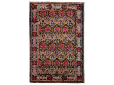 Solo Rugs Arts & Crafts Purple 5'1'' x 7'10'' Rectangular Area Rug SOLM1772170