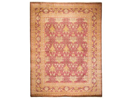Solo Rugs Arts & Crafts Red 9'1'' x 12' Rectangular Area Rug