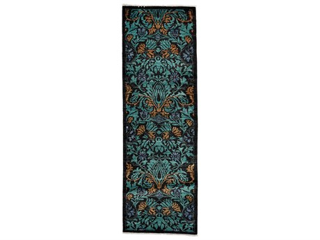 Solo Rugs Arts & Crafts Green 2'7'' x 7'10'' Runner Rug