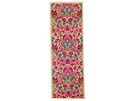 Solo Rugs Arts & Crafts Pink 2'7'' x 7'10'' Runner Rug