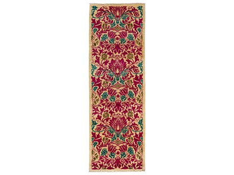 Solo Rugs Arts & Crafts Pink 2'8'' x 8'1'' Runner Rug