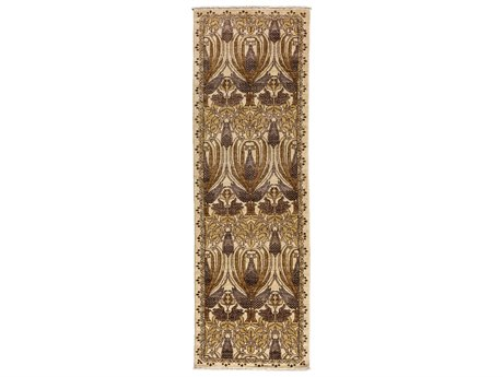 Solo Rugs Arts & Crafts Beige 2'6'' x 8'5'' Runner Rug
