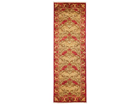 Solo Rugs Arts & Crafts Red 2'8'' x 8'3'' Runner Rug