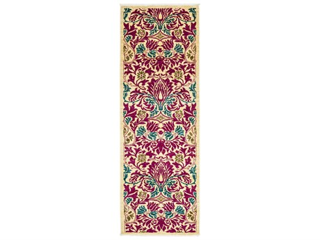 Solo Rugs Arts & Crafts Pink 2'6'' x 8'6'' Runner Rug