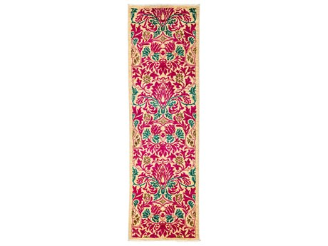 Solo Rugs Arts & Crafts Pink 2'7'' x 8'7'' Runner Rug