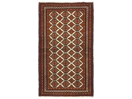 Solo Rugs Balouch Red 3'4'' x 5'7'' Rectangular Area Rug SOLM100016846