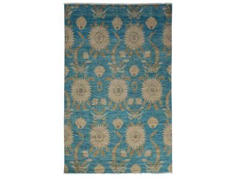 Solo Rugs Eclectic Blue 5'10'' x 9'1'' Rectangular Area Rug