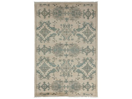 Solo Rugs Eclectic Ivory 5'2'' x 8' Rectangular Area Rug