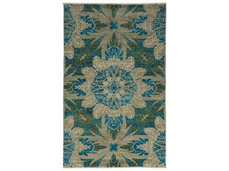Solo Rugs Eclectic Blue 5' x 7'10'' Rectangular Area Rug