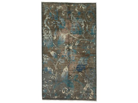 Solo Rugs Eclectic Brown 6'1'' x 9'4'' Rectangular Area Rug