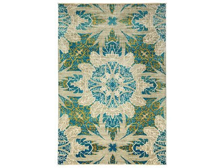 Solo Rugs Eclectic Blue 6'4'' x 9'3'' Rectangular Area Rug