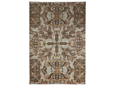Solo Rugs Eclectic Brown 6' x 8'9'' Rectangular Area Rug