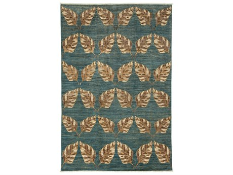 Solo Rugs Eclectic Blue 6'5'' x 9'9'' Rectangular Area Rug