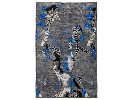 Solo Rugs Eclectic Gray 6' x 9'1'' Rectangular Area Rug SOLM184486