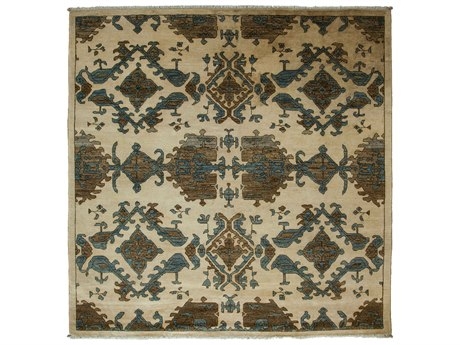 Solo Rugs Eclectic Ivory 6'1'' x 6'2'' Square Area Rug