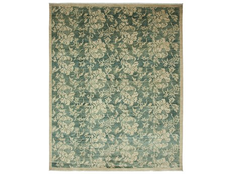 Solo Rugs Eclectic Green 8'2'' x 9'10'' Rectangular Area Rug