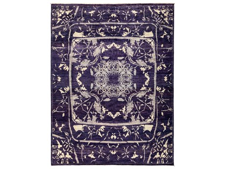 Solo Rugs Eclectic Purple 8'3'' x 10'7'' Rectangular Area Rug SOLM184440