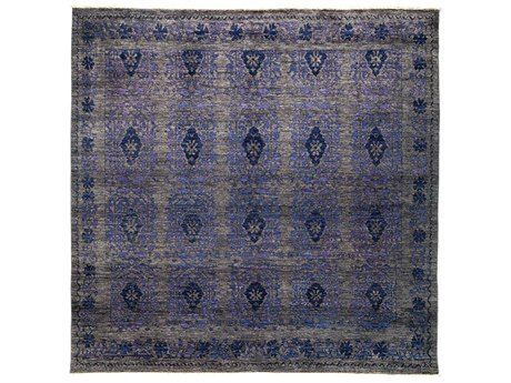 Solo Rugs Eclectic Purple 8'1'' x 8'1'' Square Area Rug