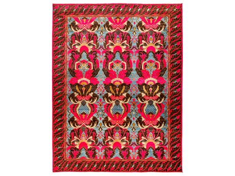 Solo Rugs Eclectic Pink 9'3'' x 11'10'' Rectangular Area Rug
