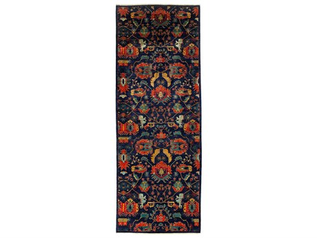 Solo Rugs Eclectic Blue 5'2'' x 13'10'' Runner Rug