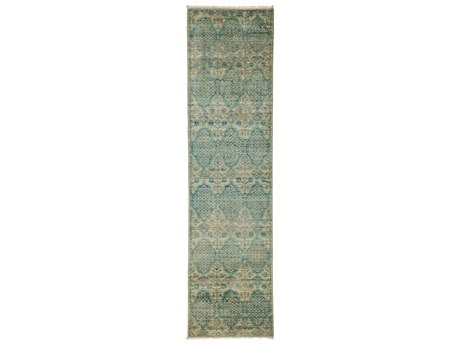 Solo Rugs Eclectic Blue 2'6'' x 9'9'' Runner Rug