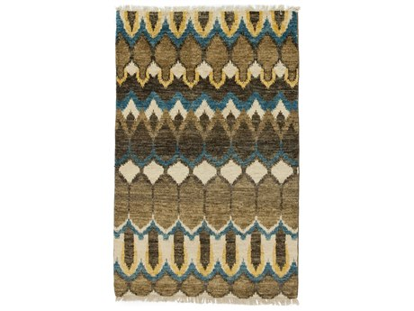 Solo Rugs Ikat Brown 3'10'' x 6' Rectangular Area Rug SOLM1620331