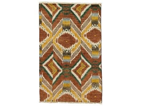 Solo Rugs Ikat Brown 4' x 6'3'' Rectangular Area Rug