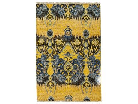 Solo Rugs Ikat Yellow 4'1'' x 6' Rectangular Area Rug SOLM1620329