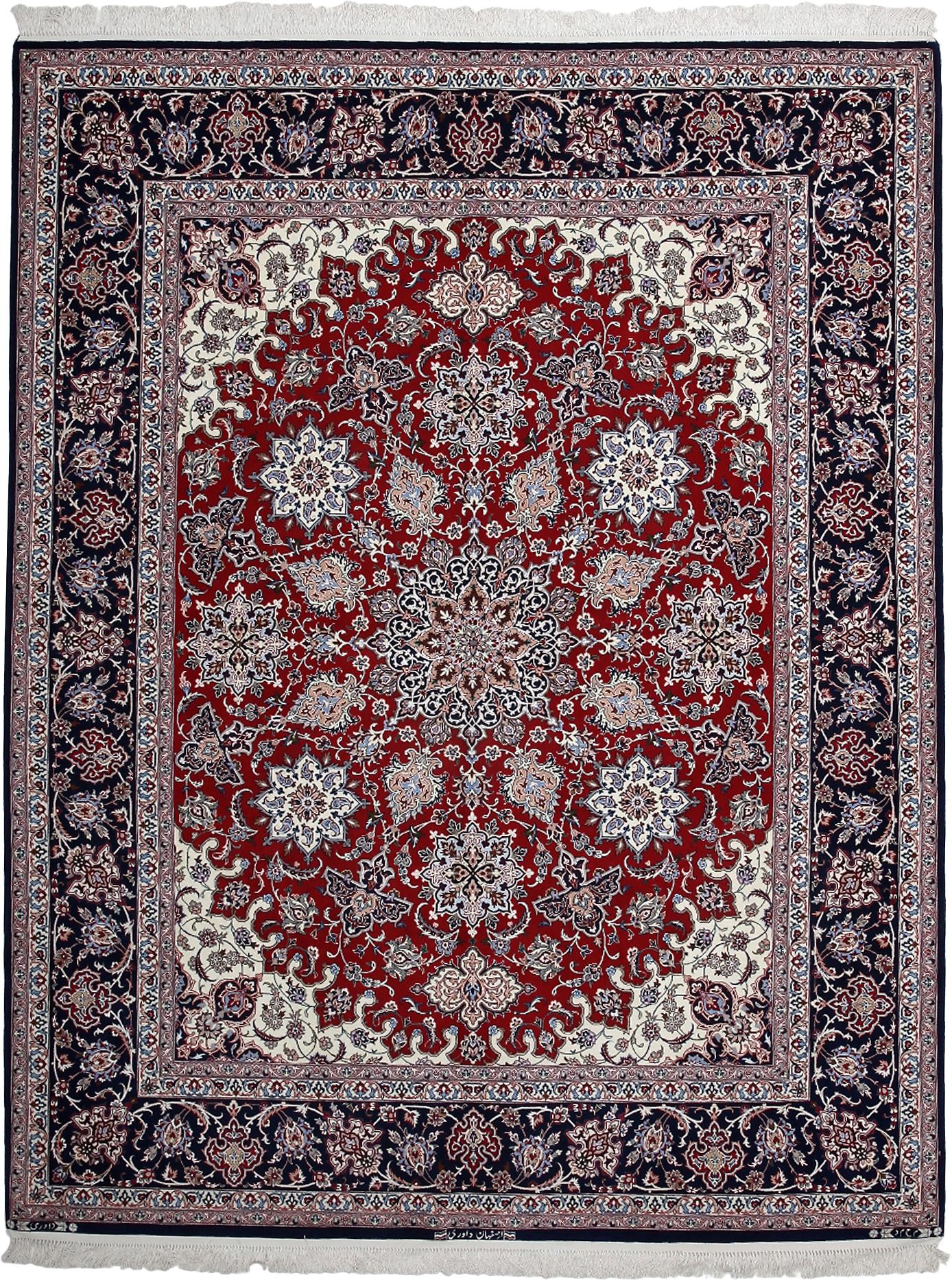 Rugs Isfahan Red Rectangular Area Rug