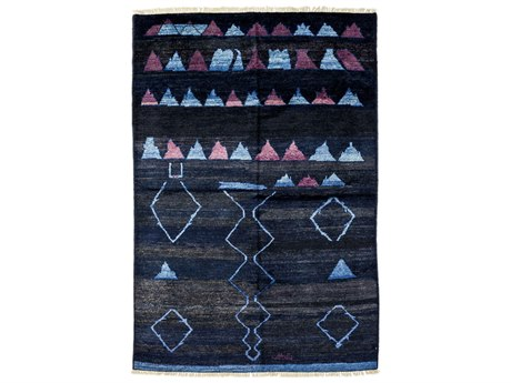 Solo Rugs Moroccan Blue 5'10'' x 8'10'' Rectangular Area Rug SOLM1621195
