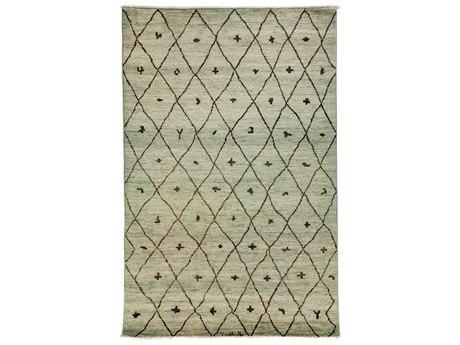 Solo Rugs Moroccan Gray 5'10'' x 8'10'' Rectangular Area Rug