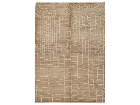 Solo Rugs Moroccan Brown 6'6'' x 9' Rectangular Area Rug SOLM1701127