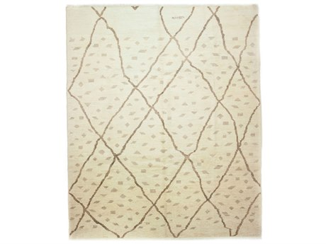 Solo Rugs Moroccan Ivory 8'7'' x 10' Rectangular Area Rug SOLM1620439