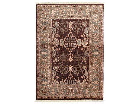 Solo Rugs Ottoman Brown 4'3'' x 6'1'' Rectangular Area Rug SOLM1466340