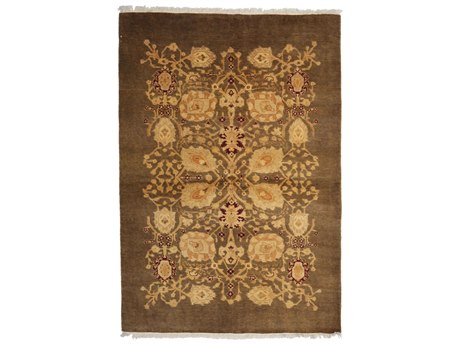 Solo Rugs Ottoman Brown 4'8'' x 6'8'' Rectangular Area Rug SOLM1515304
