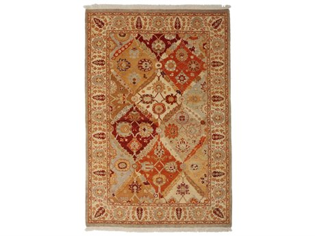 Solo Rugs Ottoman Beige 4'2'' x 6'2'' Rectangular Area Rug SOLM1530588