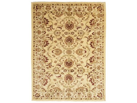 Solo Rugs Oushak Beige 10' x 13'5'' Rectangular Area Rug SOLM1105267