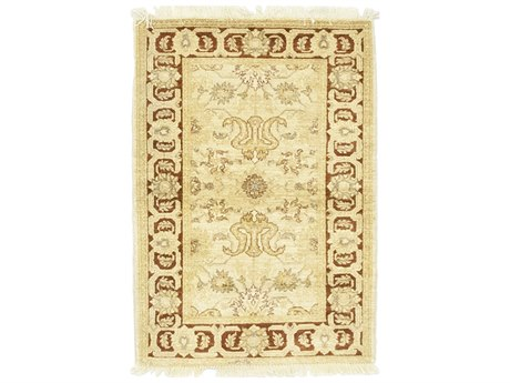 Solo Rugs Oushak Beige 3'3'' x 4'8'' Rectangular Area Rug SOLM130546