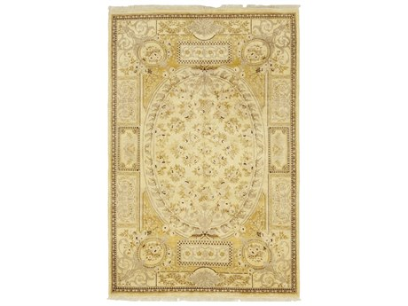 Solo Rugs Oushak Beige 6'1'' x 9'2'' Rectangular Area Rug SOLM1251272