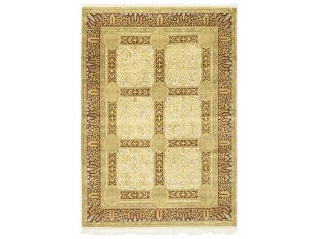 Solo Rugs Oushak Beige 6'2'' x 9' Rectangular Area Rug SOLM1271121