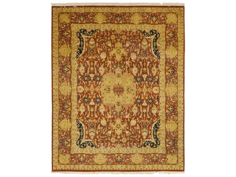 Solo Rugs Oushak Red 8'2'' x 10'1'' Rectangular Area Rug SOLM1285212