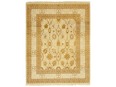 Solo Rugs Oushak Beige 8'2'' x 10'6'' Rectangular Area Rug SOLM134645