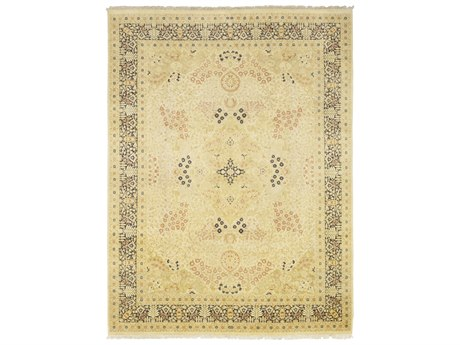 Solo Rugs Oushak Beige 9'1'' x 12'1'' Rectangular Area Rug SOLM1195026